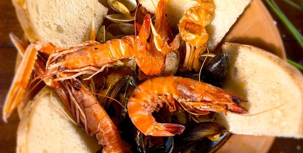 scampi e specialità di pesce